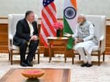 delhi  us secretary of state mike pompeo meets prime minister narendra modi