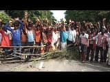 supaul  villagers take road block for 6 point demands in hardi