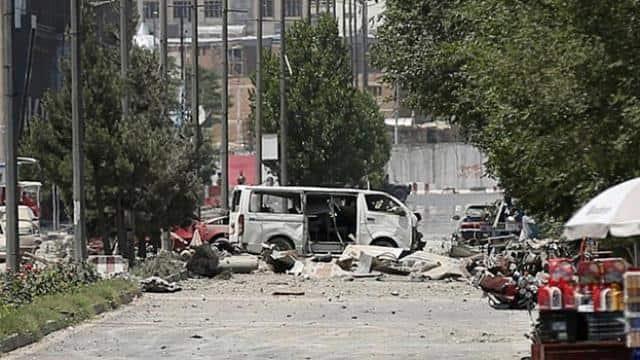 kabul blast  at least 53 wounded as car bomb rocks afghan capital