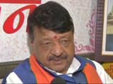 seen here is bjp leader kailash vijayvargiya   photo ani