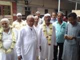 two groups of haj pilgrims from bhagalpur leave for destination for haj pilgrimage