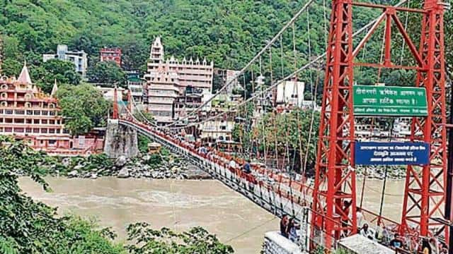 Lakshman Jhula bridge closed in Rishikesh for public due to safety ...