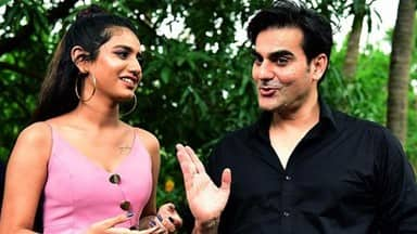 bollywood stars priya prakash varrier and arbaaz khan on the set of upcoming film sridevi bungalow