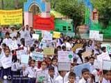 विद्या और शिशु मंदिर के छात्रों ने देवाल बाजार में निकाली रैली