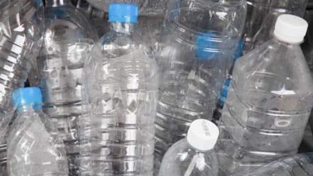 used water bottle