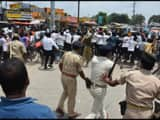 supaul  lathi charges on high school students