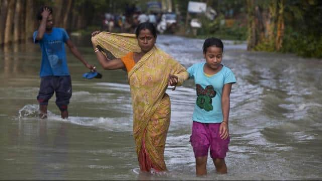 parts of northern india remained under water as the flood situation showed no signs of relenting in
