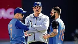 ms dhoni  ravi shastri and virat kohli  photo credit  getty images