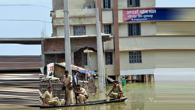 flood water entered into ahiyapur police station in bihar