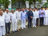 dissident mlas from jd s  and congress leave raj bhavan after meeting with karnataka governor vajuib