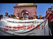 उन्नाव केस: पीड़िता के साथ एकजुटता दिखाने के लिए इंडिया गेट पर मार्च