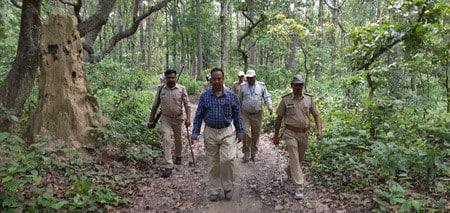 एफडी को जंगल में गश्त के दौरान दिखे संदिग्ध