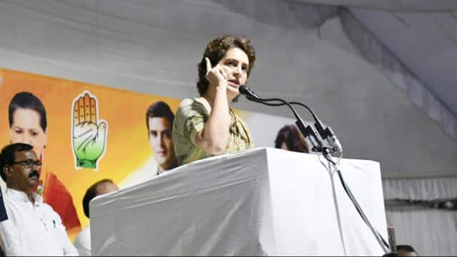 priyanka gandhi   s response came when party in-charge for jharkhand rpn singh  in course of the meeti