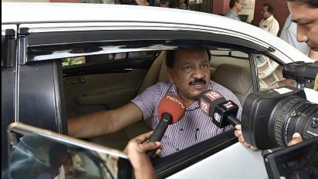 union health minister dr harshvardhan leaves after a meeting with doctors at his office