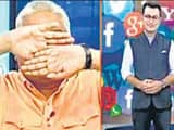man from right wing group covers eyes on seeing muslim anchor