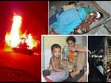 brutal pictures of horrible bus accident in purnia