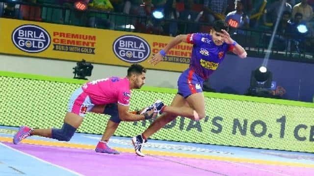 dabang delhi vs jaipur pink panthers   pro kabaddi league twitter 5 august  2019