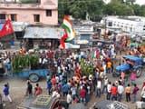बगहा में शांतिपूर्ण ढंग से निकाला गया जुलूस