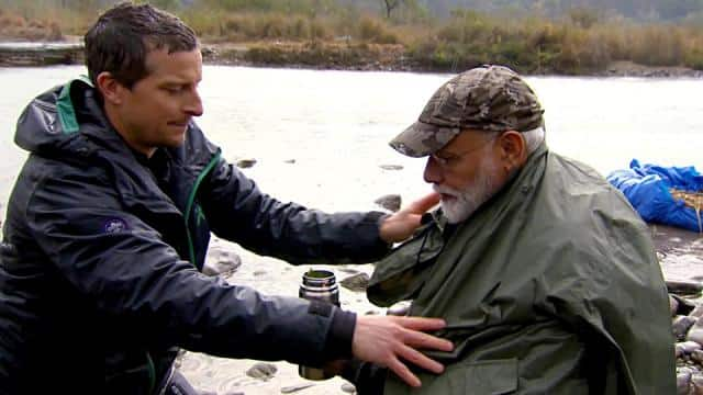 man vs wild  know pm modi answer on bayer grylls question on nervous and fearful