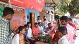 भाजपा नरोजा और हथौड़ा में लगा सदस्यता शिविर