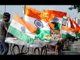 vendors displays national flag for sale ahead of independence day celebrations