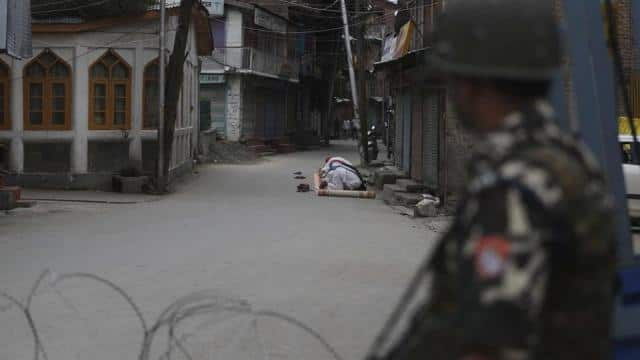 restrictions and night curfews were imposed in several districts of jammu and kashmir after the cent