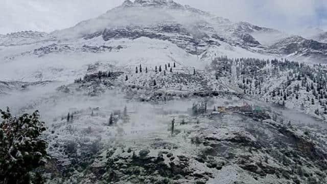 fresh snowfall in lahaul-spiti
