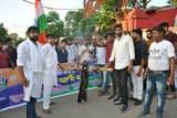 आक्रोशित छात्र संगठनों ने रेलमंत्री का फूंका पुतला
