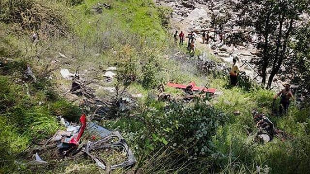 3 killed as flood relief chopper hits cable crashes in uttarakhand uttarkashi