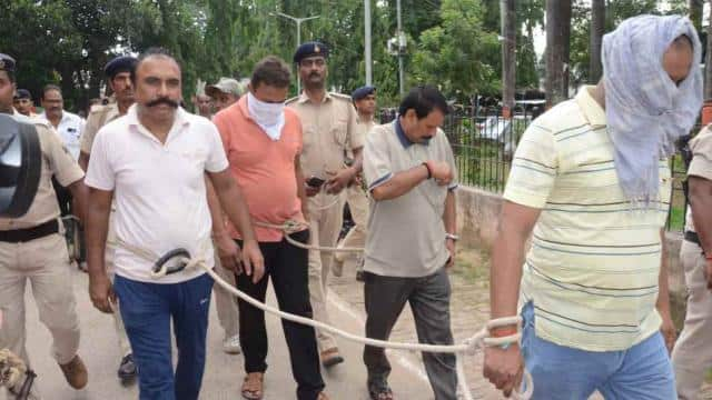 four policemen arrested for fleeing sitamarhis infamous criminal vikas jha