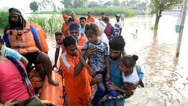 flood havoc in punjab and haryana