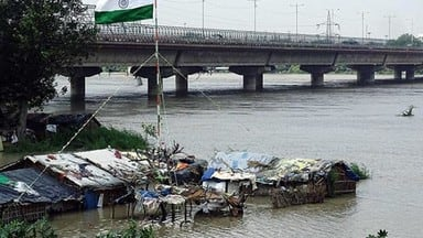 old iron bridge opened for vehicular traffic as yamuna water recedes in delhi