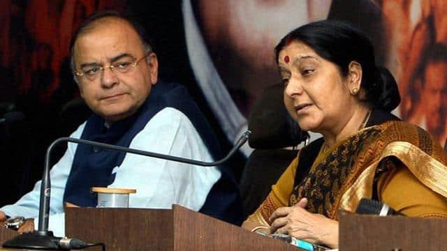 former union minister aurn jaitley with sushma swaraj  file pic