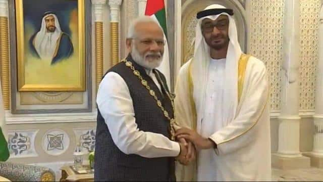 pm modi and crown prince sheikh mohammed bin zayed al nahyan discussed the measures to improve trade