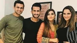 जब एक फ्रेम में नजर आए दो पाक क्रिकेटर और उनकी भारतीय पत्नी- PICS