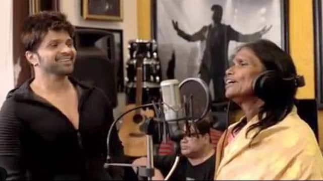 ranu mandol recorded the song    teri meri kahani    for himesh reshammiya   s film happy hardy and heer r