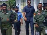pathankot  iaf chief bs dhanoa and wing commander abhinandan varthaman moving towards the mig-21 bef