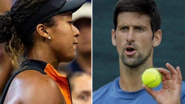 naomi osaka  novak djokovic  getty images