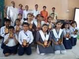 वैदिक गणित प्रतियोगिता में शामिल हुए मंडल भर के बच्चे