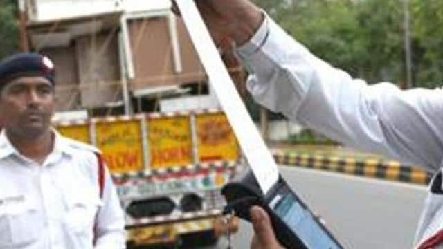 a truck driver in odisha   s sambalpur district was fine a whopping rs 86 500 for violating several tr
