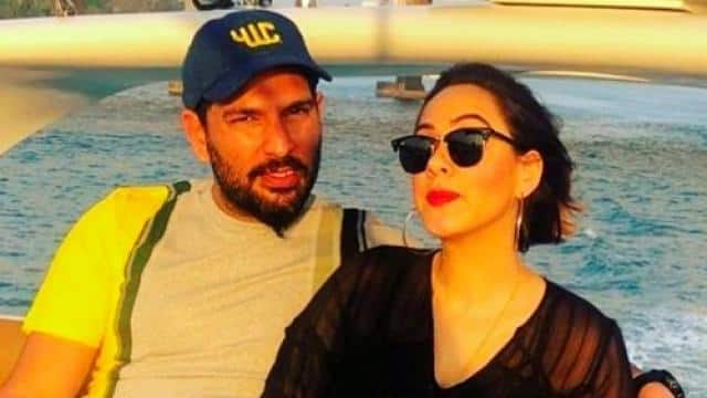 yuvraj singh with his wife  photo credit  instagram