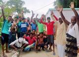 आक्रोशित ग्रामीणों ने बिजली विभाग के खिलाफ की नारेबाजी