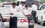 ट्रैफिक पुलिस का कमाल, रोडवेज बस चालक का हेलमेट में कर दिया चालान
