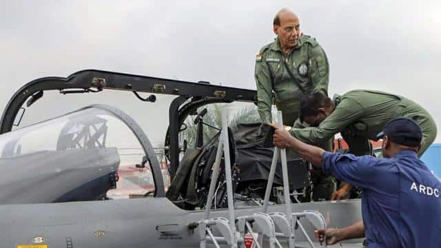tejas what rajnath singh says after 30 min sortie on lca tejas