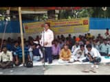katihar  disabled people go on hunger strike for 12 point demands and memorandum submitted to dm