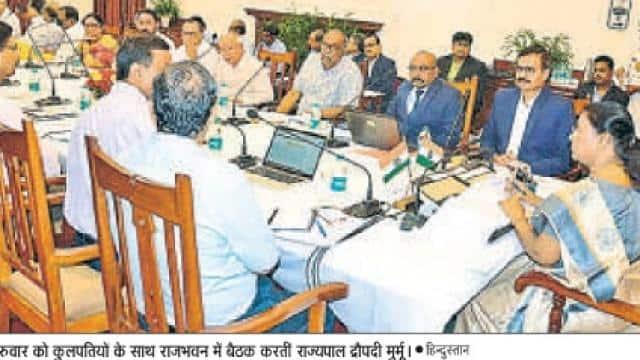 governer murmoo of jharkhand at a meeting