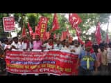 cpi protest on flood and drought in district headquarter of kosi and seemanchal region