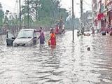bihar rain water logging on the road  see photo of patna city