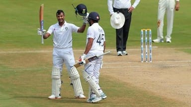 india vs south africa  mayank agarwal score maiden test hundred