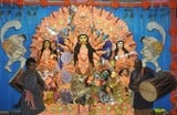 गुंजायमान रहे पंडाल, स्थापित हो गईं दुर्गा प्रतिमाएं